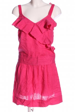 120% Lino Pinafore dress pink casual look