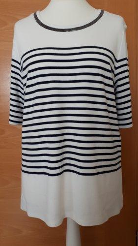1.2.3 Paris Knitted Jumper white-dark blue viscose