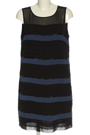 123 Paris Ołówkowa sukienka czarny-niebieski Wzór w paski W stylu casual