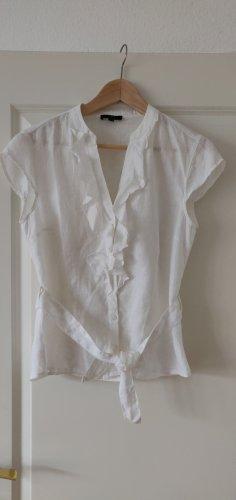 1.2.3 Paris Short Sleeved Blouse white linen