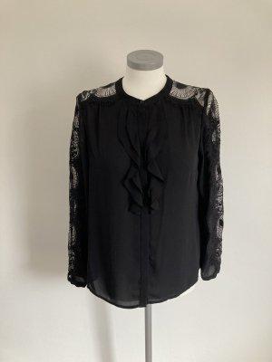 123 Paris Koronkowa bluzka czarny