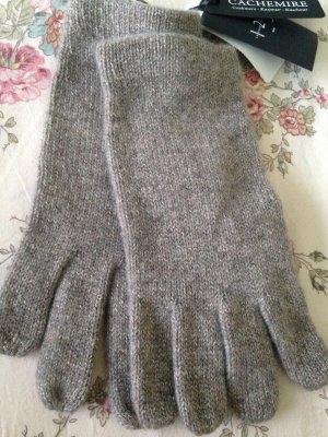 123 Paris Guanto in maglia grigio-argento