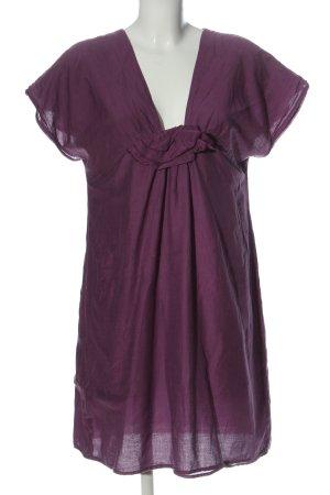 123 Paris Sukienka z krótkim rękawem fiolet Elegancki