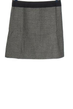 123 Paris Spódnica mini czarny-w kolorze białej wełny Na całej powierzchni