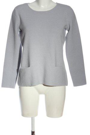 123 Paris Sweter z okrągłym dekoltem jasnoszary W stylu casual