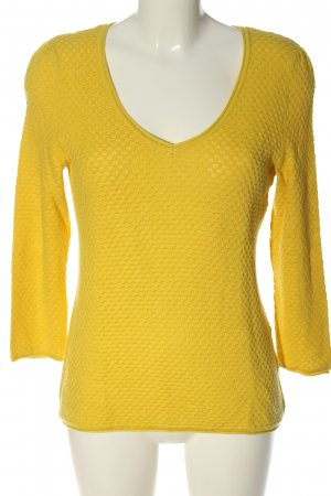 123 Paris Sweter z dekoltem w kształcie litery V bladożółty W stylu casual
