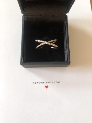 14 K Roségold Diamant Ring