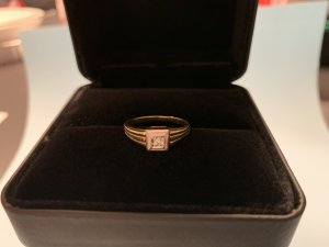 14 Karat / Bicolor Ring / 585 Weißgold und Gelbgold