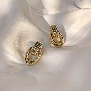 Boucles d'oreille en or jaune métal