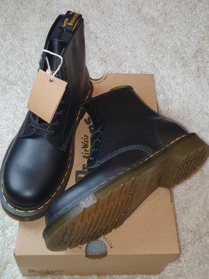 Dr. Martens Airways Aanrijg laarzen zwart-limoen geel