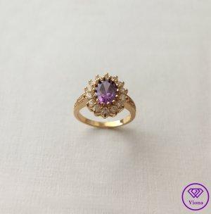 ♈️ 14K Vergoldeter Amethyst Ring
