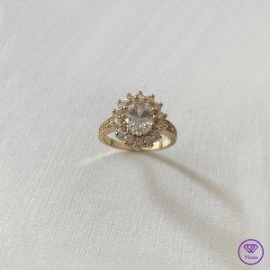 Viona Zdobiony pierścionek złoto-biały