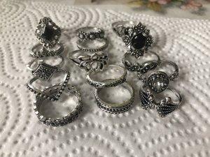 15 Stück Vintage Ringe gr 15-17 50-54 neu