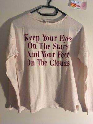 152 XXS langärmliges Shirt Zara weiß babyrosa