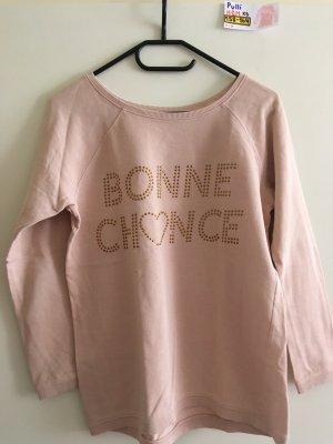 158-164 XS Pullover H&M babyrosa gold BONNE CHANCE