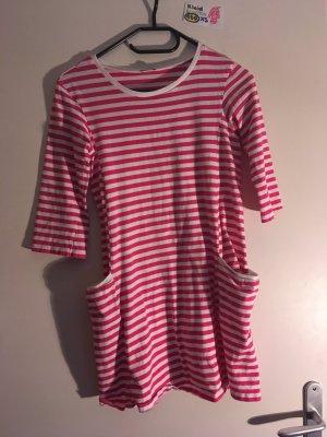 160 XS Kleid pink weiß gestreift Benetton