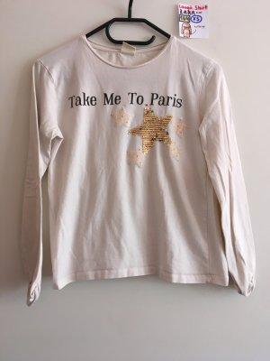164 XS langärmliges Shirt Zara weiß beige