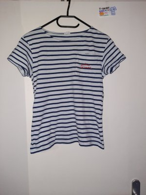 164 XS T Shirt dunkelblau weiß Zara