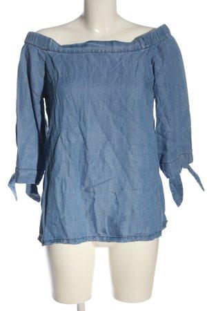 17&co Bluzka typu carmen niebieski Melanżowy W stylu casual