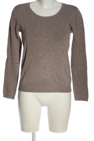 17&co Fine Knit Jumper brown flecked casual look