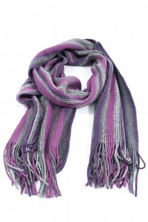17&co Fringed Scarf striped pattern casual look