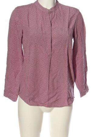 17&co Hemd-Bluse pink-schwarz Allover-Druck Casual-Look