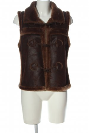 17&co Fake Fur Vest brown casual look