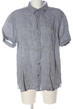 17&co Blouse en lin gris clair moucheté style d'affaires
