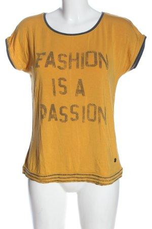 17&co Camicia fantasia arancione chiaro-grigio chiaro caratteri stampati