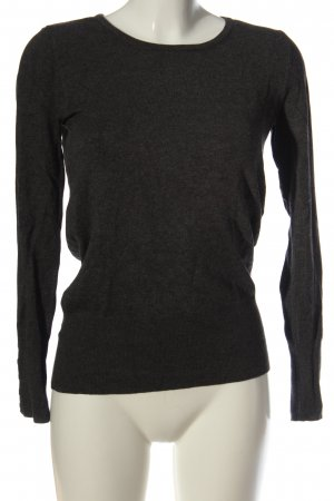 17&co Jersey de cuello redondo negro moteado look casual