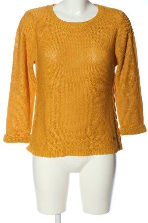 17&co Kraagloze sweater licht Oranje casual uitstraling