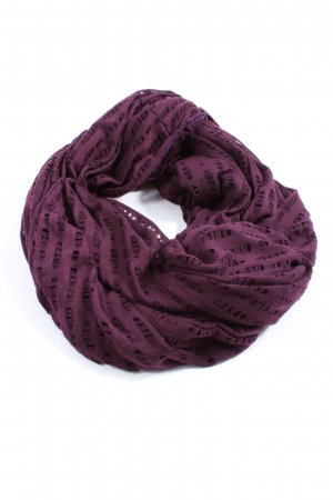 17&co Snood lila gestreept patroon casual uitstraling