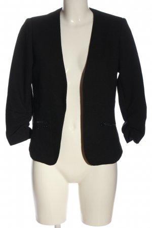 17&co Gebreide blazer zwart casual uitstraling