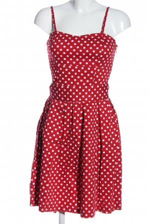 17&co Pinafore dress red-white allover print casual look