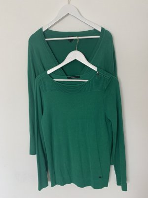 17&co Knitted Twin Set green