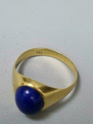 18 Karat Gold Ring mit Lapislazuli