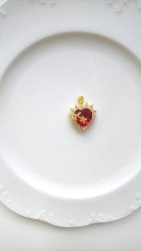Breloczek złoto-czerwony