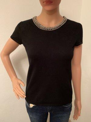 €180 NEU Tank Stricktop Top T-Shirt Shirt Weste Bluse Pulli S Swarovski Steine Strass Perlen
