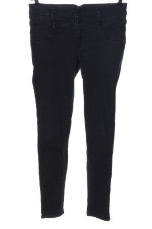 1822 denim Hoge taille broek zwart casual uitstraling