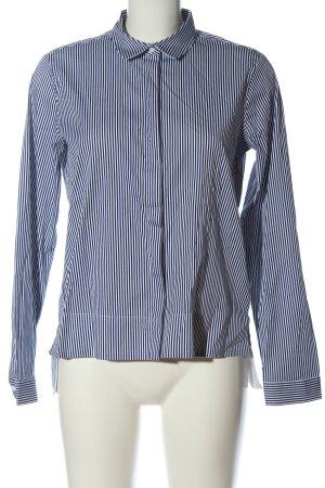 1863 by Eterna Koszula z długim rękawem niebieski-biały Wzór w paski