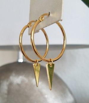 Hand made Orecchino a cerchio oro