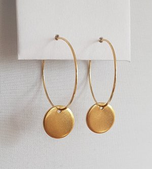 Hand made Ear Hoops gold-colored
