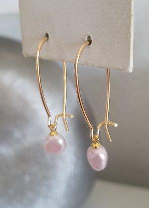 18k Gold Ohrhänger mit echten Süßwasserperlen (Handgemacht)