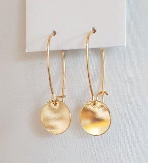 18k Gold Ohrhänger mit Plättchen (Handgemacht)