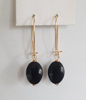 Hand made Boucles d'oreille en or noir-doré