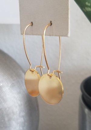 18k Gold Ohrringe mit Gold-Plättchen (Handgemacht)