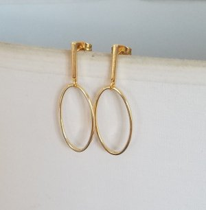 Hand made Gold Earring gold-colored