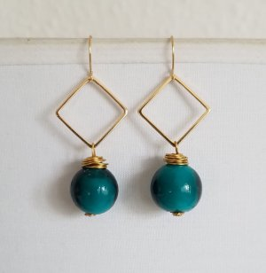 Hand made Gold Earring multicolored