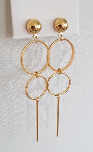 18k Gold Statement-Ohrringe (Handgemacht)