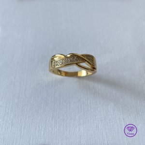 Viona Silver Ring gold-colored-white